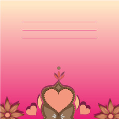 Invitation card templates with love pattern.Hearts, flowers.