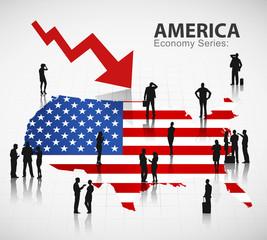 U.S. Economic Business Finance Crisis Investment Vector Concept