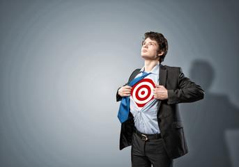 businessman target