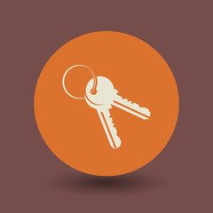 Keys icon or sign, vector