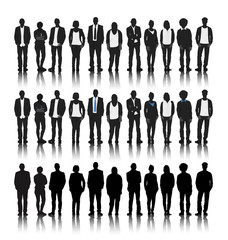 Vector Silhouettes Business People Community Team Concept