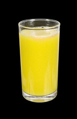starfruit juice isolated on black
