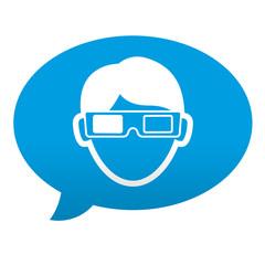 Etiqueta tipo app comentario espectador 3D