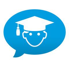 Etiqueta tipo app comentario graduado