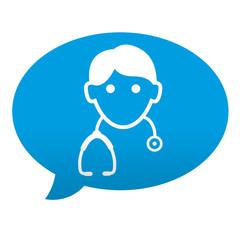 Etiqueta tipo app comentario medico