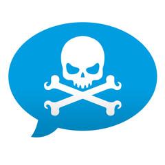 Etiqueta tipo app comentario muerte