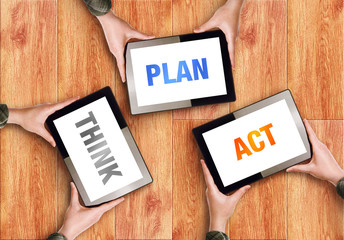 Think Plan Act Business Concept