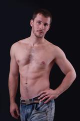 Portrait of shirtless handsome man