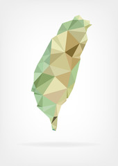 Low Poly map of Taiwan