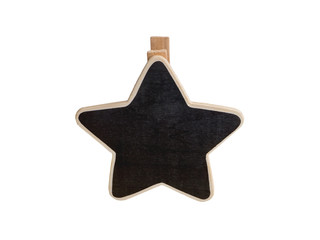 Wooden clipboard star shape