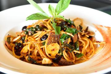 Spicy Spaghetti-Thai Style