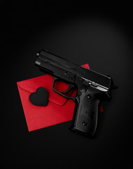 Gun heart envelope