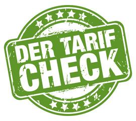 Der Tarif Check - Stempel grün