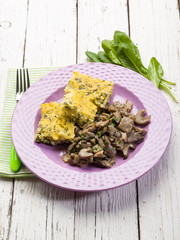 integral porridge with mushroom