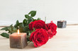 canvas print picture - Red roses for Valentine's Day