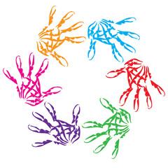 Conceptual child hand circle