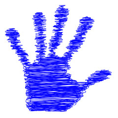 Conceptual sketch child hand print