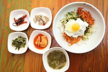 Korean Dish Kimchi Bibimbap