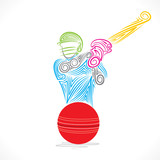 creative cricket player banner design vector