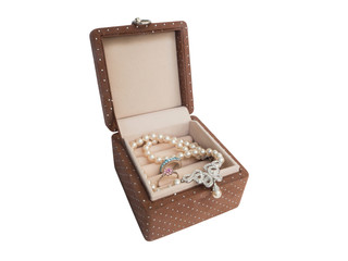 Suede small jewelry box