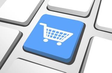 Computer Key : Shopping Cart