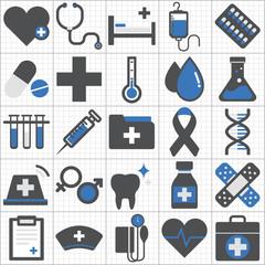 Healthcare Health Medicine Hospital Laboratory Icon Concept