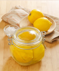 Preserved lemons with salt