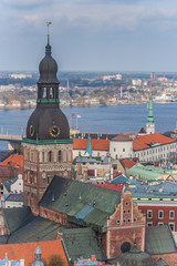 View over Riga and the dom