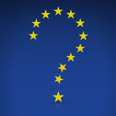 EU flag in the form of a question mark