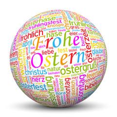 Kugel, Frohe Ostern, Keywörter, Wörter, Tags, Cloud, Wortwolke