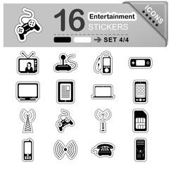 Entertainment, Icon, Sticker, Set, Symbol, Zeichen, Unterhaltung