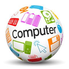 Kugel, Computer, Icon, Symbol, Zeichen, Internet, Sphere, 3D