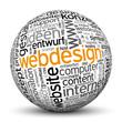 Kugel, Webdesign, Tags, Word Cloud, Text Cloud,  Keyword, 3D