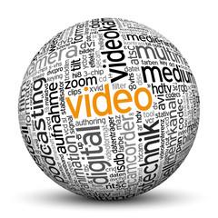 Kugel, Video, Tags, Word Cloud, Text Cloud, Wortwolke, Keyword