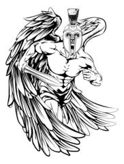 Spartan helmet angel