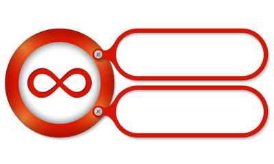 red frames and infinity symbol