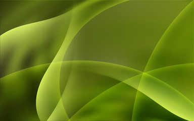 Abstract Green Eco Soft Waves Background Vector Illustration