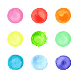 Collection of watercolor circles