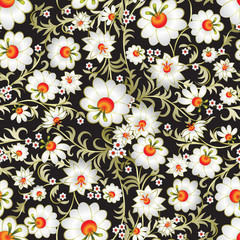 abstract seamless floral ornament