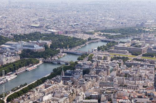 canvas print picture Paris vom Eifelturm