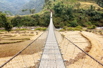 rope hanging suspension bridge