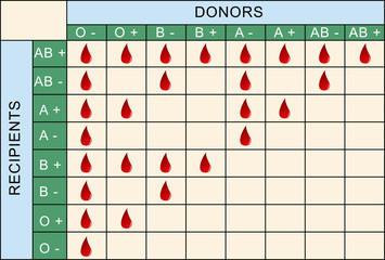 Blood Transfusion Table