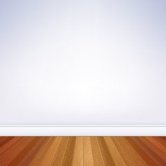 Empty room wall and floor template.