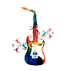 Guitar and saxophone design