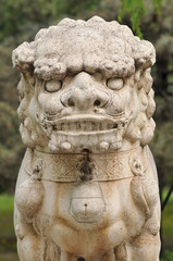 Chinese traditional lion sculpture