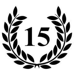 Lauriers 15 sur fond blanc