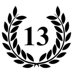Lauriers 13 sur fond blanc