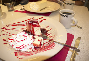 Typical Cheesecake in New York USA