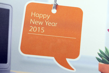 Text show in Happy new year 2015 on calendar.