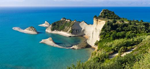 Cape Drastis cliffs on Corfu island, Greece
